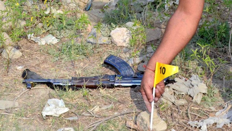 The AK-47 seized after the Parthla encounter.