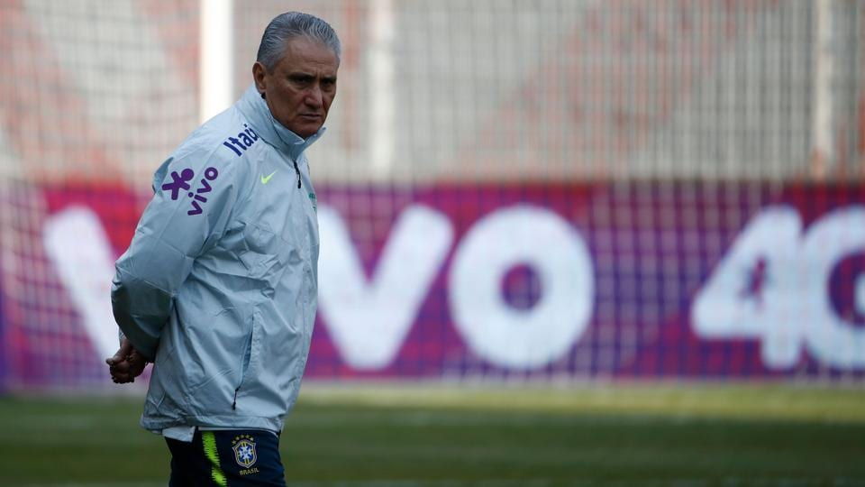 Brazil's head coach Tite attends a training session of the Brazil football team ahead of their friendly vs Germany vs in Berlin, Germany, on March 25, 2018, in preparation of the 2018 Fifa World Cup. Germany plays against Brazil on March 27, 2018.