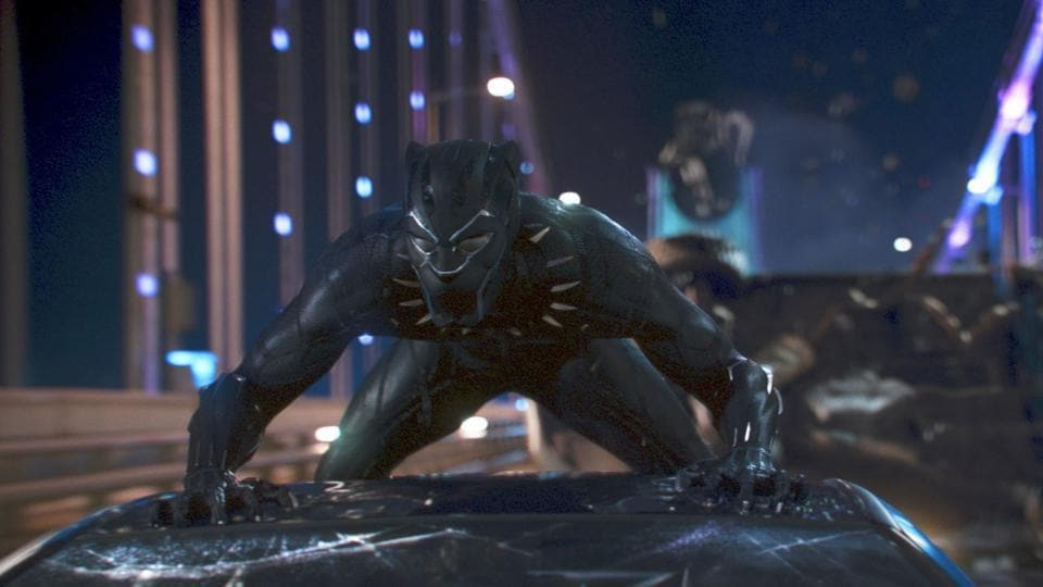 This image released by Disney shows a scene from Marvel Studios' Black Panther.