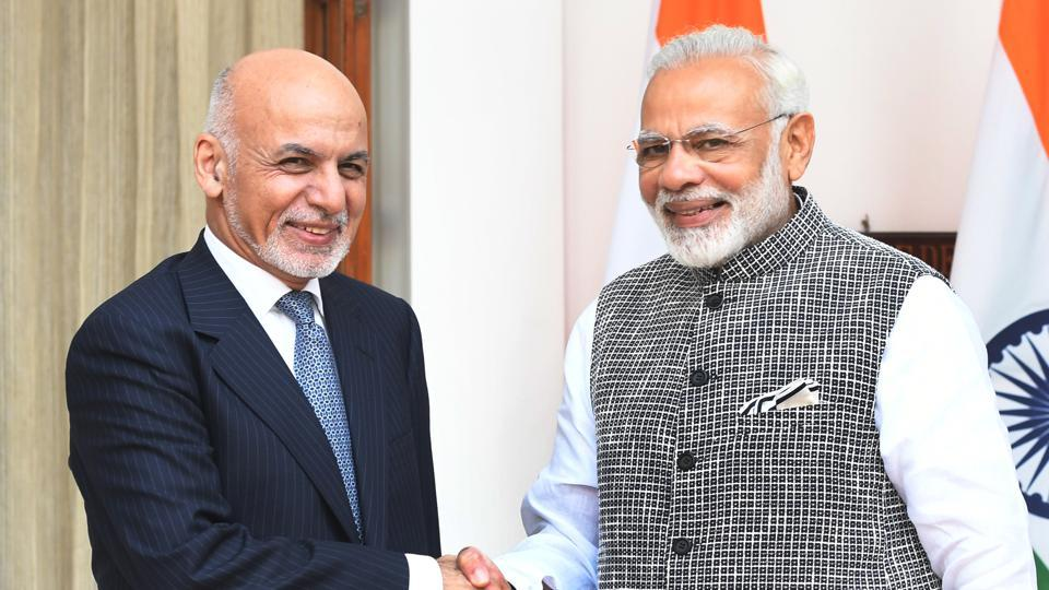 A file picture of Prime Minister Narendra Modi with Afghanistan President  Mohammad Ashraf Ghani.