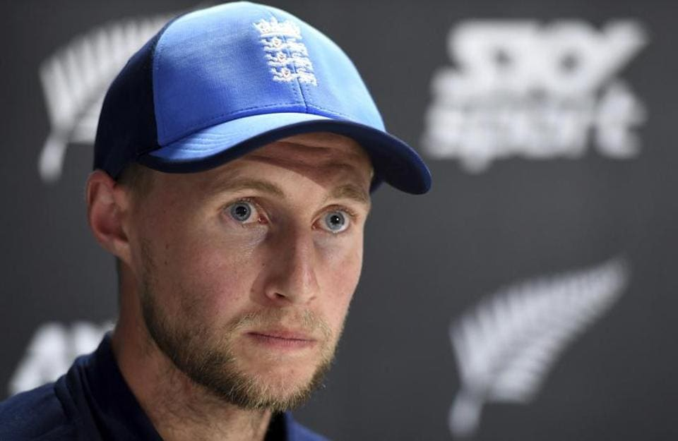 England captain Joe Root answers questions at a press conference following his teams innings and 49 run defeat to New Zealand in the first cricket test in Auckland, New Zealand, Monday.