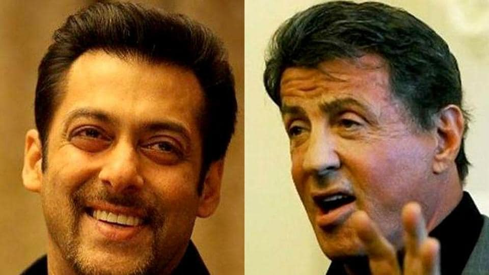 Sylvester Stallone shared Salman Khan's new Race 3 poster.
