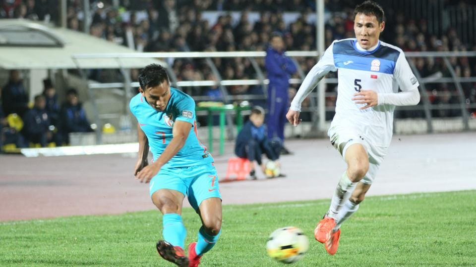 Jeje Lalpekhlua scored for India but they could not avoid a defeat to Kyrgyzstan in the AFC Asian Cup qualifying.