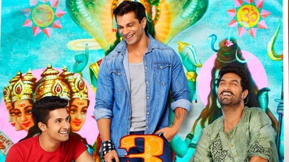 Kay Kay Menon, Karan Singh Grover, Kunaal Roy Kapoor and Ravi Dubey on the poster of 3 Dev.