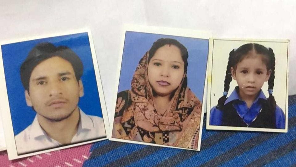 Vicky, Lalita and their daughter Ranchi were found dead in a house in south Delhi's Govindpuri on Saturday morning.
