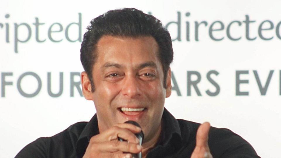 Salman Khan speaks during a press conference of 'Da-Bangg The Tour Pune' in Pune.