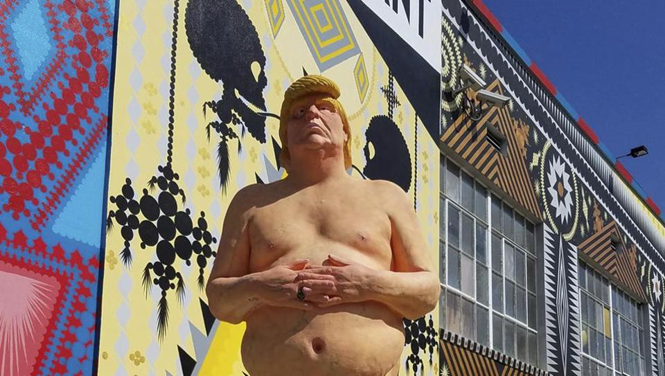 Donald Trump,Naked Donald Trump Statue,Naked Donald Trump Statue auction