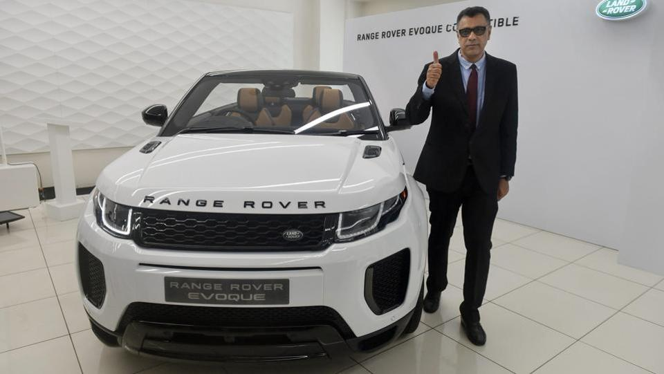 Jaguar Land Rover India President and MD Rohit Suri, poses for a photo during the launch of Range Rover Evoque Convertible in Mumbai on Tuesday. (Mitesh Bhuvad / PTI)