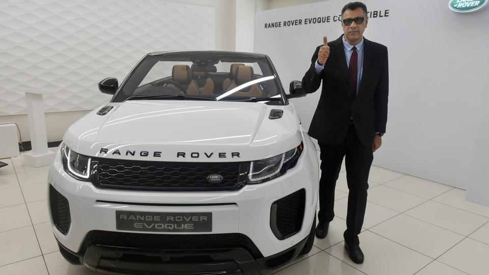 Jaguar Land Rover India President and MD Rohit Suri, poses for a photo during the launch of Range Rover Evoque Convertible in Mumbai on Tuesday.