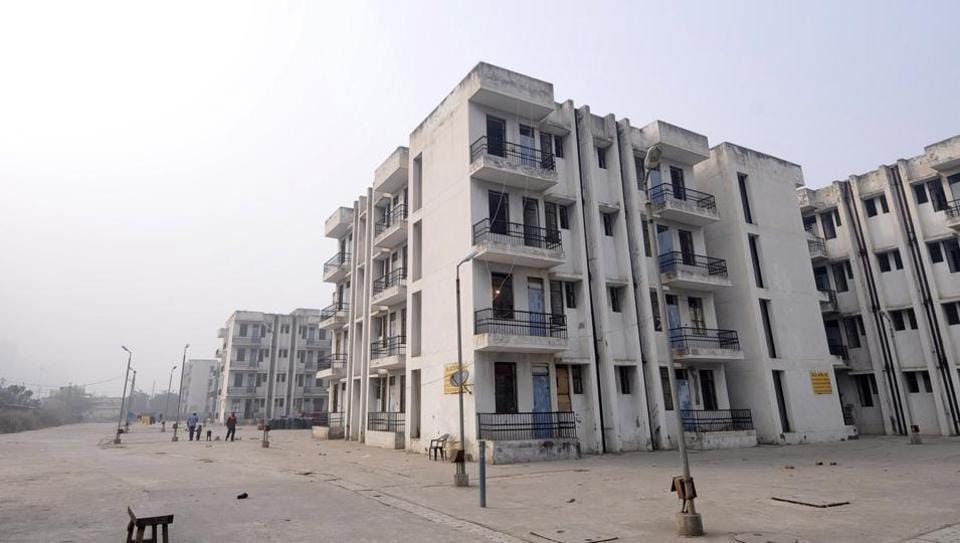 The EWS flats that are lying vacant in Sector 122, Noida.