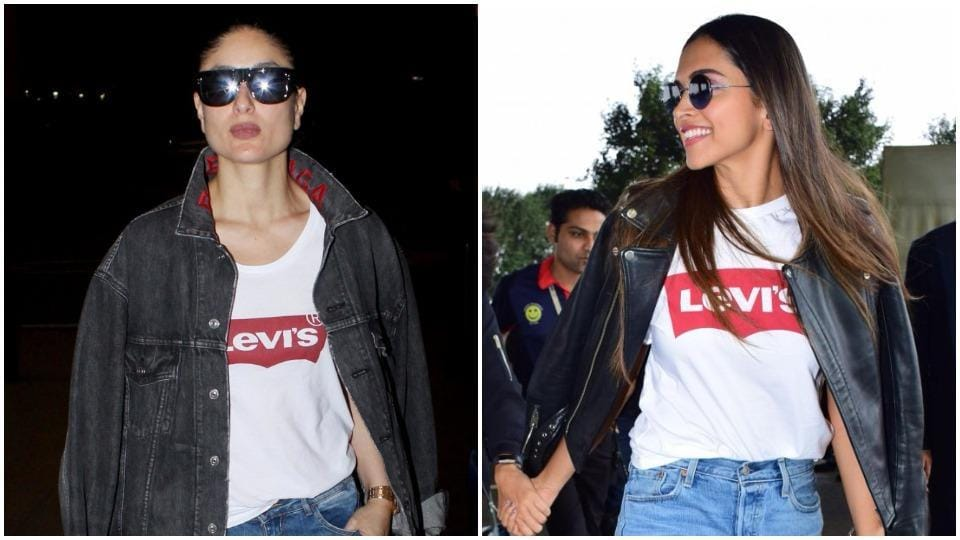 Thankfully for Deepika, Kareena wasn't at the Mumbai airport around the same time when she decided to wear the exact tee. (Instagram)