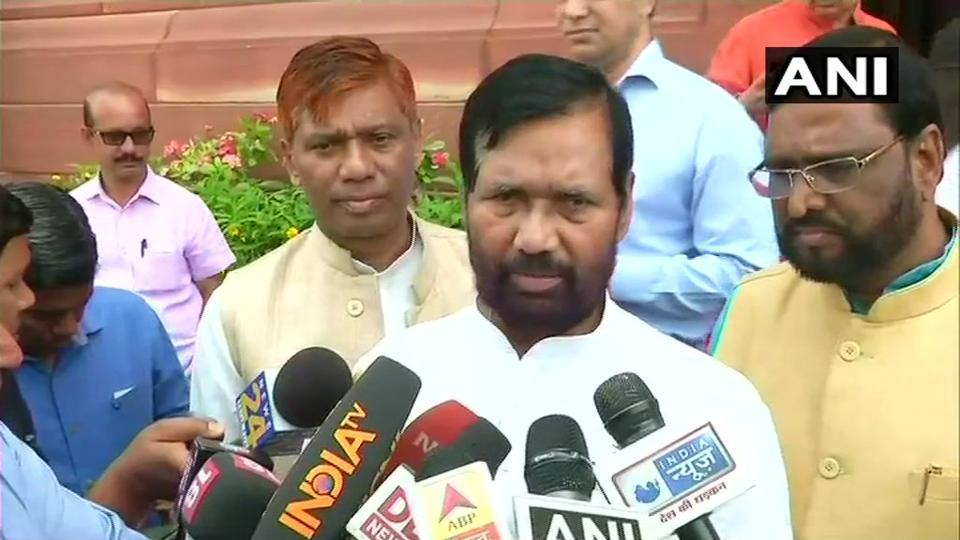 A delegation of NDA's SC and ST MPs, led by LJP chief Ram Vilas Paswan and Union social justice minister Thawarchand Gehlot, met Prime Minister Narendra Modi.
