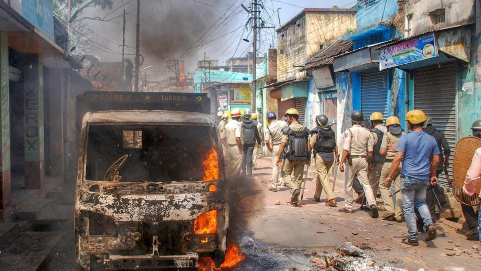 Following continued violence and clashes over Ram Navami celebrations in West Bengal's Asansol, Section 144 has been imposed in the area. Earlier today, the Centre sought a report from the West Bengal government on incidents of arson and violence during Ram Navami processions in the last two days and offered assistance to deal with the situation. (PTI File Photo)