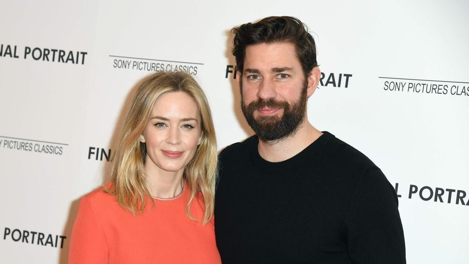 Emily Blunt and John Krasinski attend the Final Portrait New York screening at Guggenheim Museum.