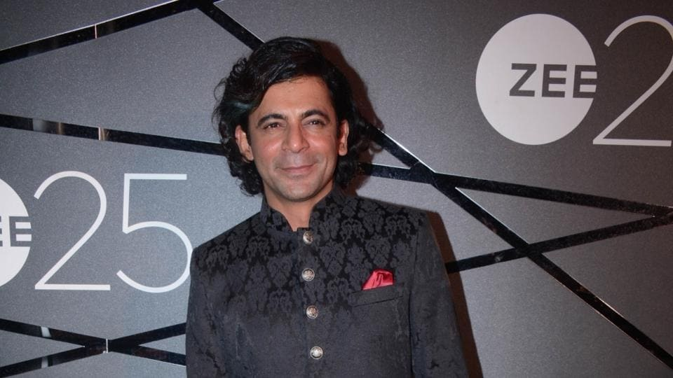 Sunil Grover during a party organised to celebrate Zee's silver jubilee in Mumbai on Jan 13.