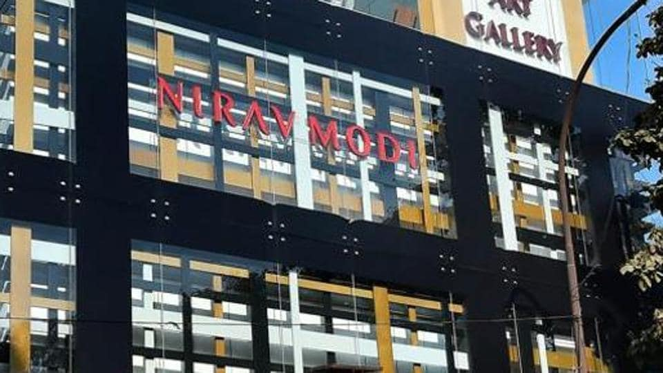 A Nirav Modi jewellery showroom at Defence Colony in New Delhi. Nirav Modi and Mehul Choksi fled the country in January around a month before the Punjab National Bank filed its first complaint against them with the Central Burea of Investigation. They are still at large.