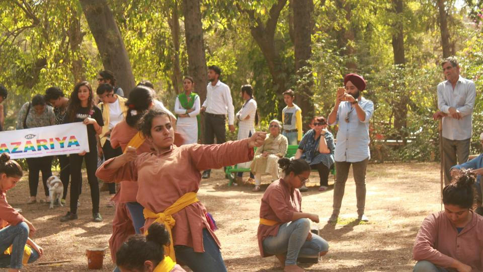 The theatre society of Miranda House recently showcased their play on gender binary at Lodhi Gardens.