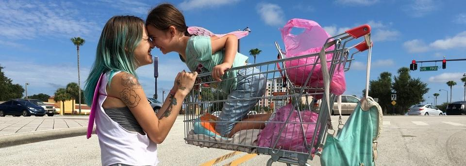 Brooklynn Prince is astonishing as the little girl; Bria Vinaite plays her unemployed single mother, in a star-making debut.