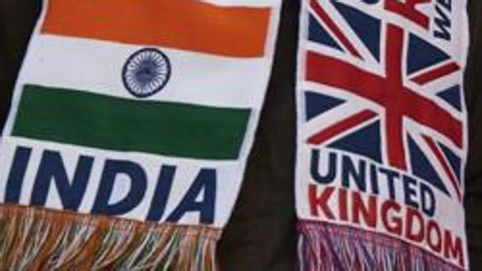 Banners seen during Prime Minister Narendra Modi's rally at Wembley Stadium in London on November 13, 2015.