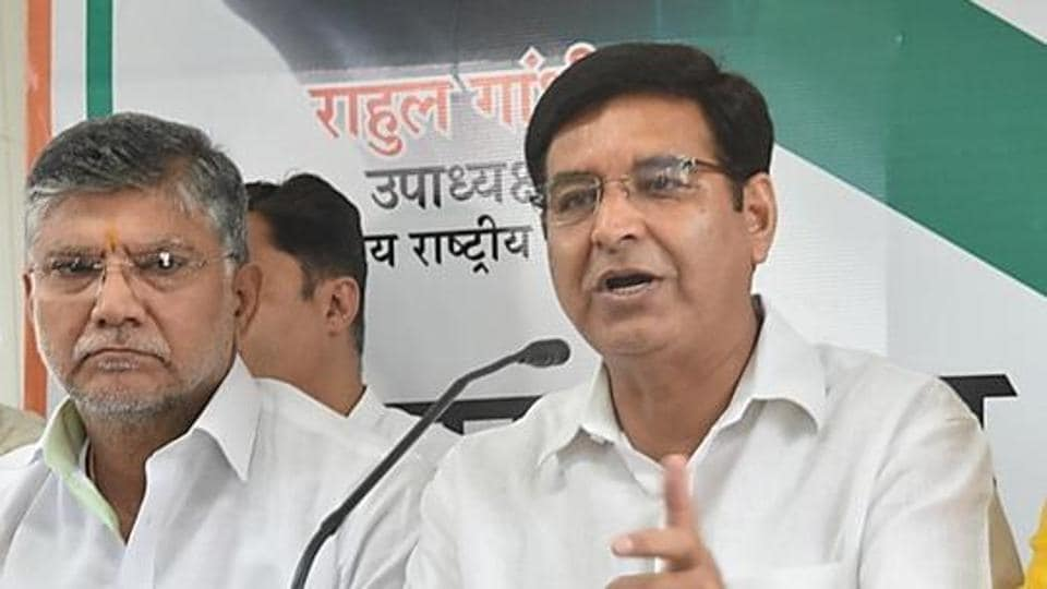 Congress state unit president Pritam Singh  (R) took a dig at the state government for not introducing the Lokayukta Bill in the Vidhan Sabha during the budget session.