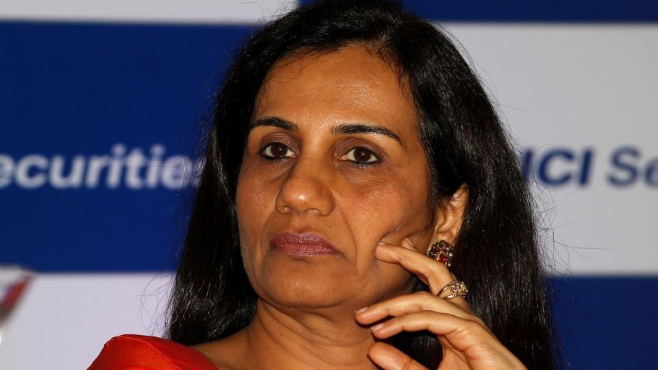 ICICI Bank's chief executive officer Chanda Kochhar listens to a speaker at a news conference in Mumbai.