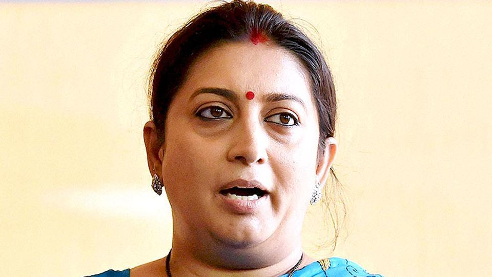 Smriti Irani accuses Kapil Sibal of being involved in land scam