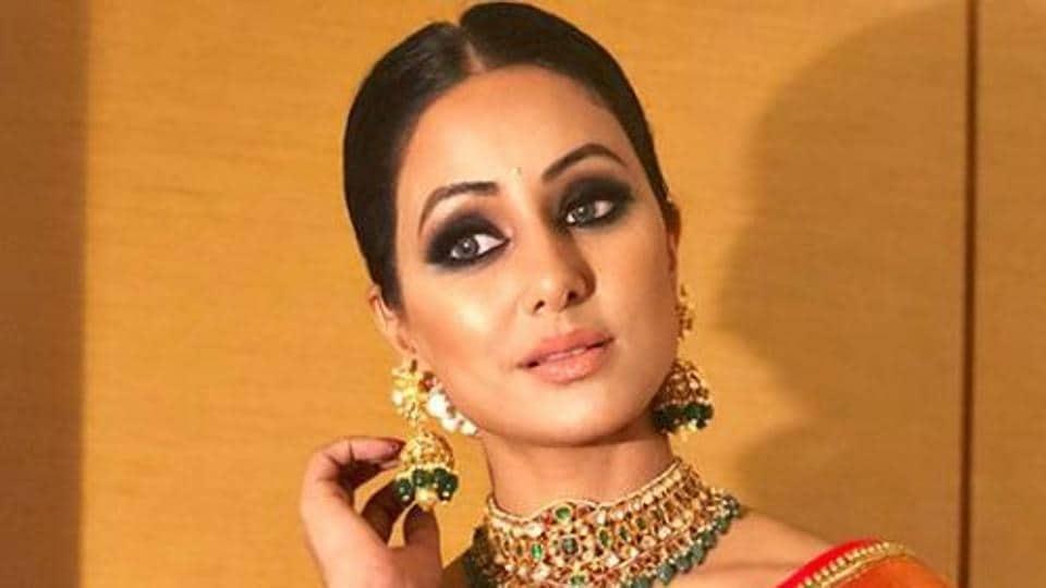 Hina Khan in this Kanjivaram saree is a sight to behold