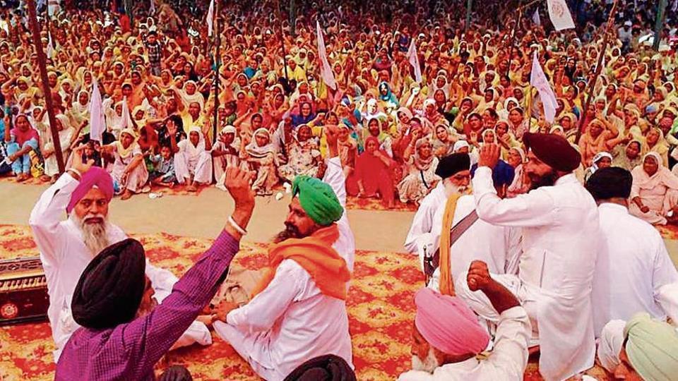 Farmers hold rally,farmers rally,Punjab farmers