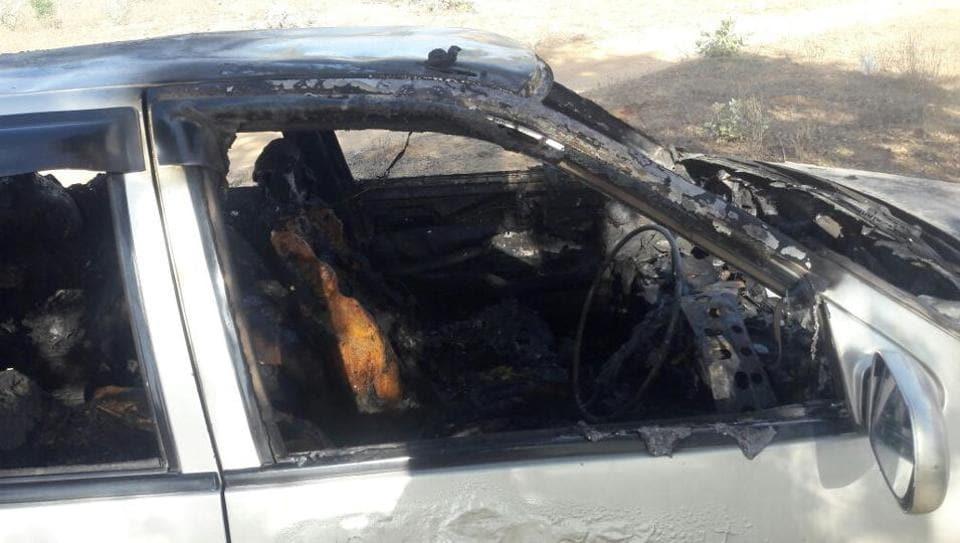 Gurgaon fire,Gurugram fire,car fire
