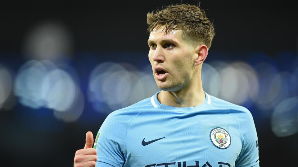 Manchester City's English defender John Stones will not be available for the Premier League clash against Everton due to concussion.