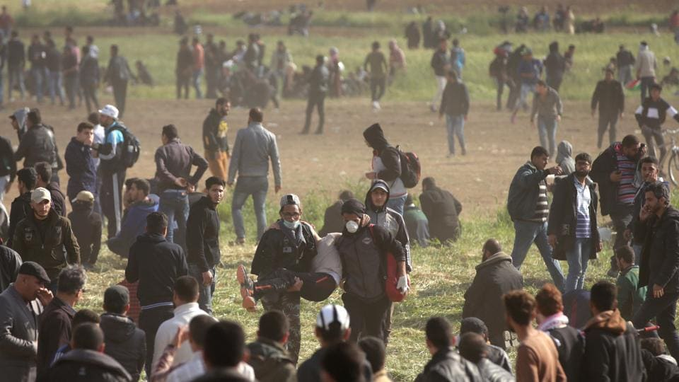The March of Return,Israeli forces,Palestinian protesters