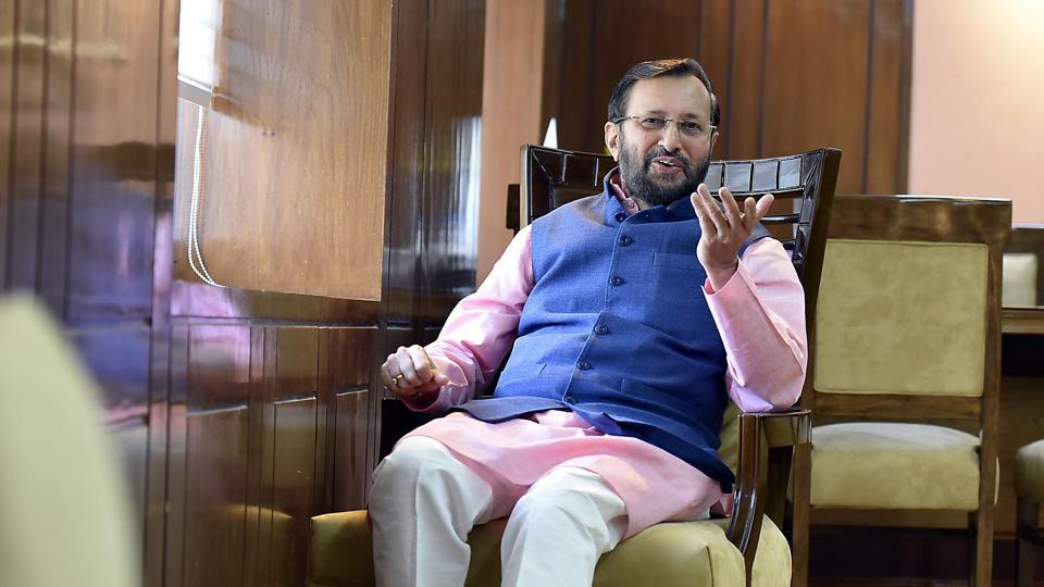 Union human resource development minister Prakash Javadekar on Friday asked engineering students to develop a distribution system that could prevent the leak of question papers as outrage mounted over the CBSE's decision to re-conduct Class 10 mathematics and Class 12 economics exams after the tests were circulated on social media. (Raj K Raj / HT  File)