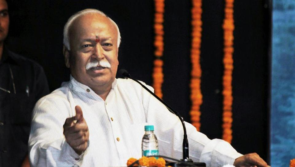 File photo of RSS chief Mohan Bhagwat at an event in Nagpur.