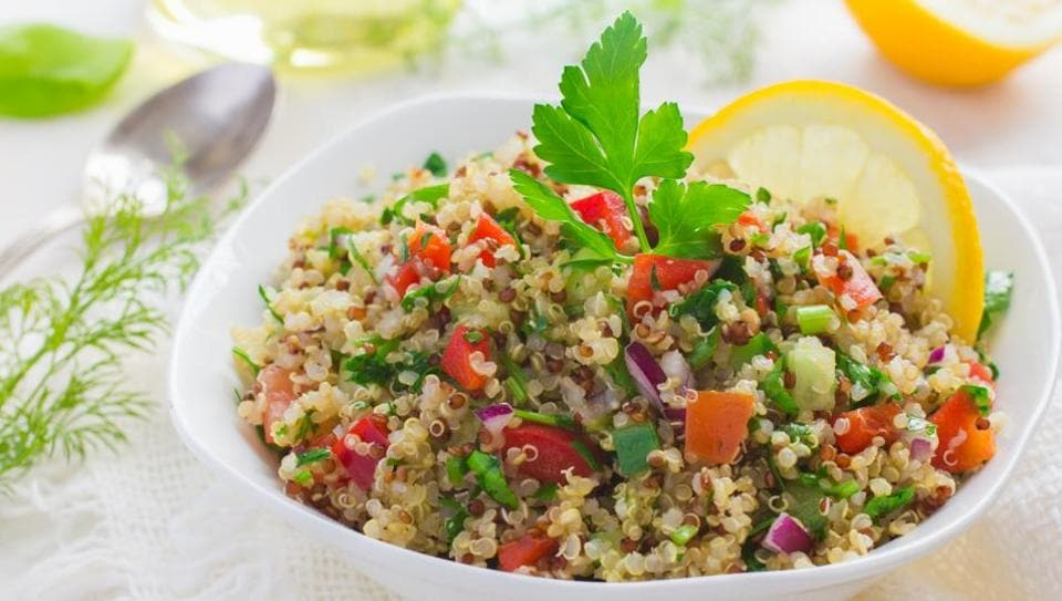 Quinoa contains twice as much fibre as other grains, and helps cut down the risk of hypertension, heart disease and diabetes.
