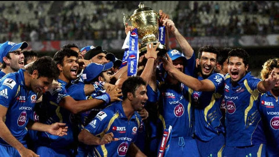 Mumbai Indians were the champions once again in 2013 when they defeated Chennai Super Kings. (HT Photo)