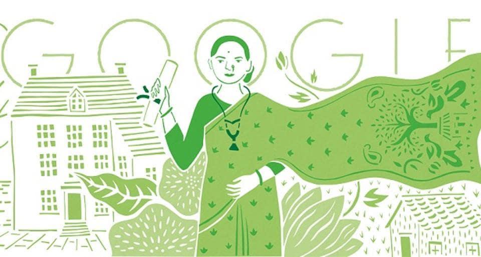 The doodle is created by Bangalore-based artist Kashmira Sarode, who portrayed Joshi celebrating her medical degree.