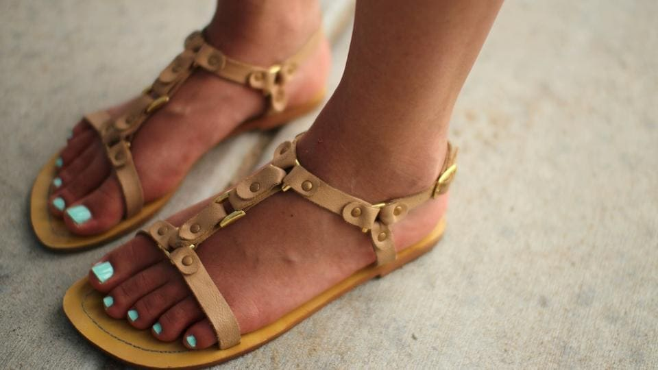 Sandals with built-in support will keep your feet from twisting.