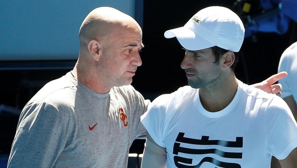 Serbian tennis player Novak Djokovic split with coach Andre Agassi on Saturday.
