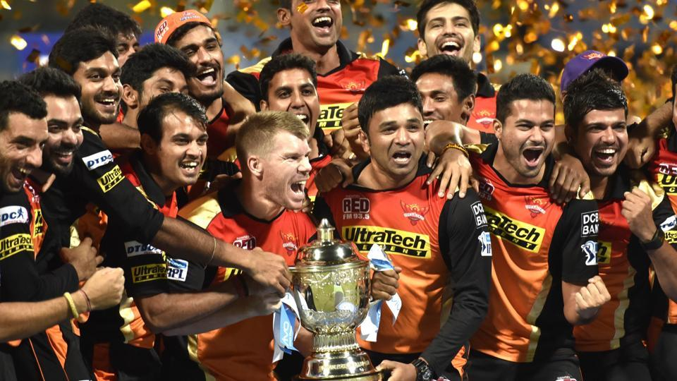 Sunrisers Hyderabad were the winners in 2016 after a comprehensive win over Royal Challengers Bangalore. (Hindustan Times)