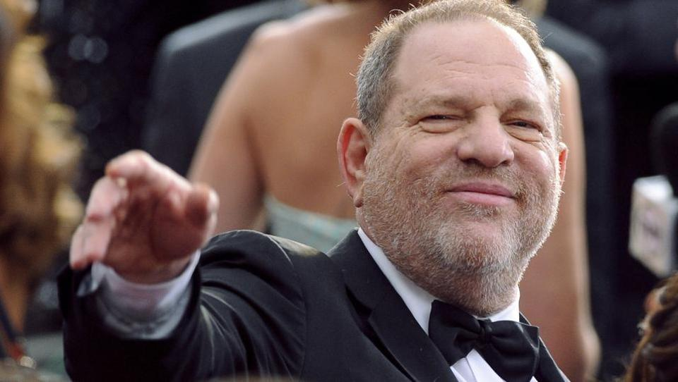 In this 2015 file photo, media mogul Harvey Weinstein arrives at the Oscars at the Dolby Theatre in Los Angeles.