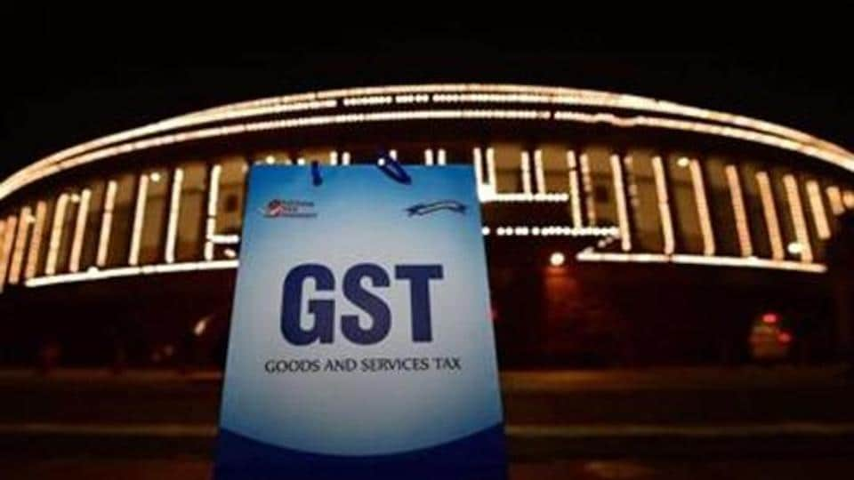 An illuminated Parliament House ahead of the midnight launch of Goods and Services Tax in New Delhi on June 30, 2017.