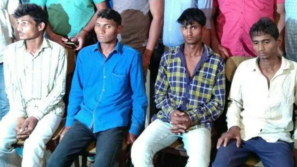 The accused in custody of Alwar police.