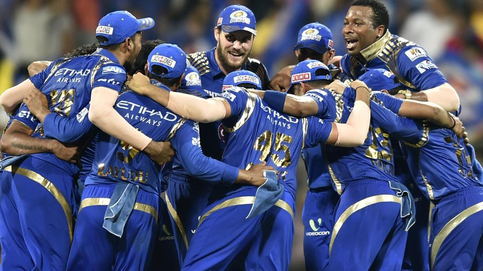Mumbai Indians won the trophy for the third time in 2015. They defeat Chennai Super Kings in the summit clash. (HT Photo)
