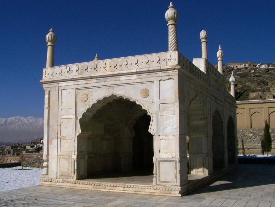 Babur Gardens, the original setting where a lot of Mughal art originated.