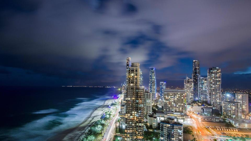 Rain clouds moving over the Gold Coast, the host city of 2018 Gold Coast Commonwealth Games on Sunday.