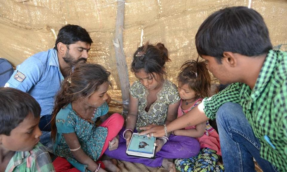 BharatNet, launched in 2012, is aimed at promoting e-governance by delivering government services related to health and education , skills training and so on, to the rural poor. Until December 2017, only 100,000 gram panchayats had been connected through optic fibre cable under Phase I of the project . The total project cost is Rs 45,000 crore.