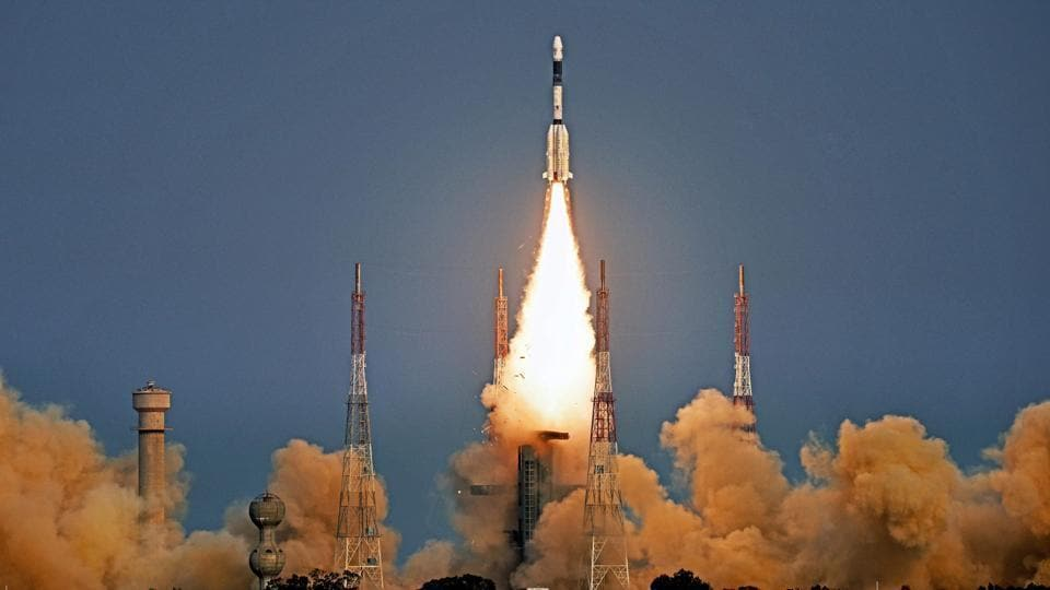 ISRO's GSLV-F08 carrying GSAT-6A communication satellite blasts off into orbit from Satish Dhawan Space Centre, in Sriharikota on Thursday.