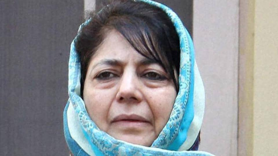 Jammu and Kashmir chief minister Mehbooba Mufti in Jammu.