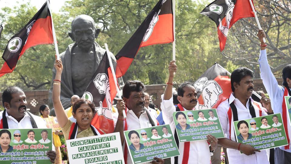 AIADMK,No trust motion,Cauvery issue