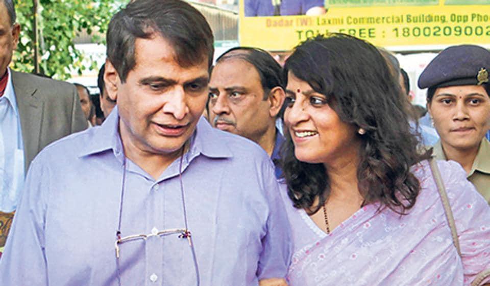 Suresh Prabhu and his wife Uma.